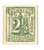 HAMBURG 1864 Definitive 2½s Pale Green. From the collection of H Pies-Lintz. No gum. - 76972 - Mint