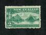 NEW ZEALAND 1898 Pictorial 2/- Blue-Green. Third Local Issue. Perf 14. Very lightly hinged. - 79368 - LHM