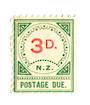NEW ZEALAND 1899 Postage Due 3d Green and Carmine. - 79435 - UHM