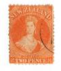 NEW ZEALAND 1862 Full Face Queen 2d Orange. Perf 12½. Very light cancel. - 79746 - VFU