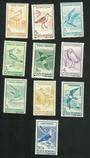 RUMANIA 1991 Water Birds. Set of 10. - 81481 - UHM
