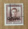 NEW ZEALAND 1938 Geo 6th Official 1½d Brown. Perf 14x13½. Fine Vertical Mesh. Commercially used. - 89763 - Used