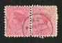 NEW ZEALAND Postmark Invercargill PUKERAU. A Class cancel on pair of 1d Second Sidefaces. Full name strike. - 89876 - Postmark